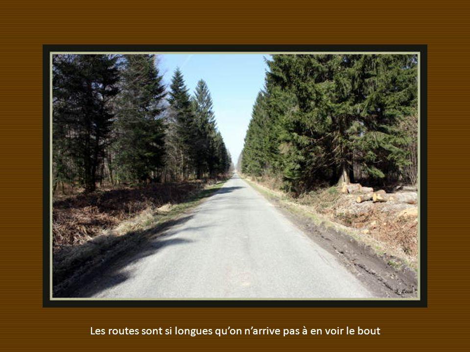 Les routes sont si longues qu'on n'arrive pas à en voir le bout