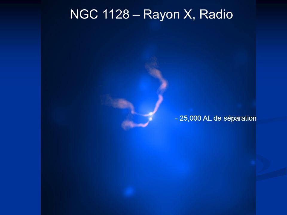 NGC 1128 – Rayon X, Radio - 25,000 AL de séparation