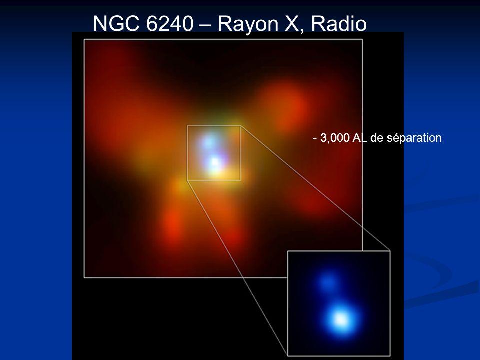 NGC 6240 – Rayon X, Radio - 3,000 AL de séparation