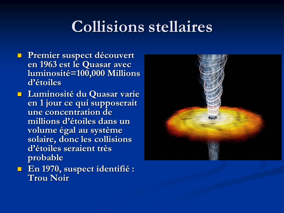 Collisions stellaires