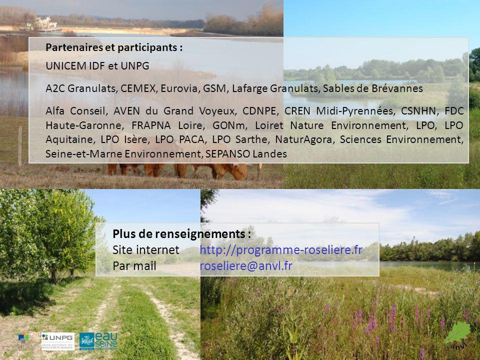 Plus de renseignements : Site internet http://programme-roseliere.fr