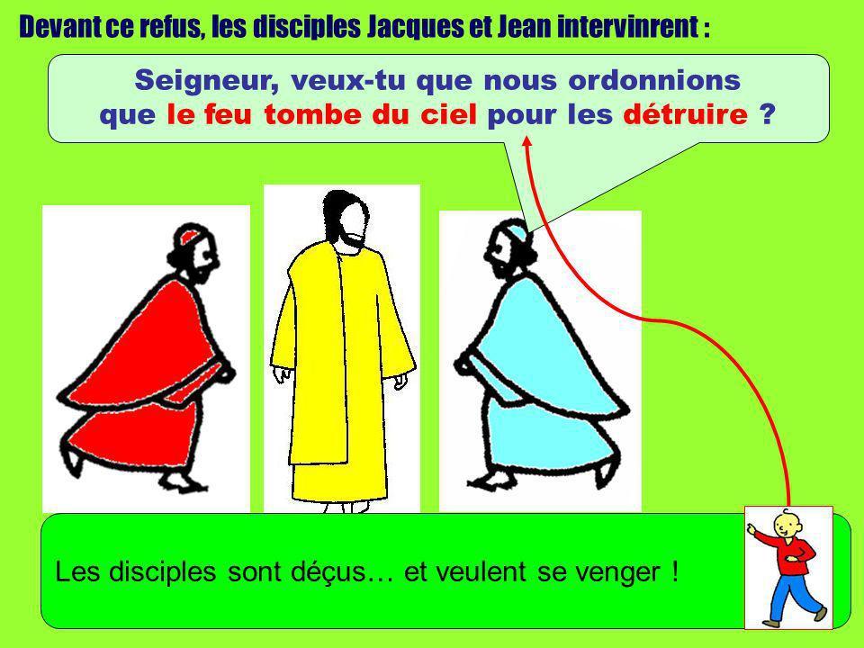 Devant ce refus, les disciples Jacques et Jean intervinrent :
