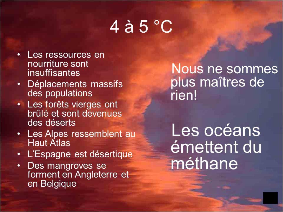 4 à 5 °C Nous ne sommes plus maîtres de rien!