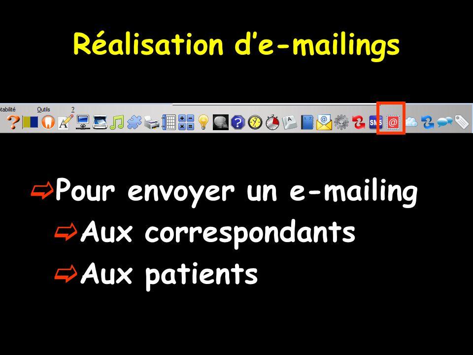 Réalisation d'e-mailings