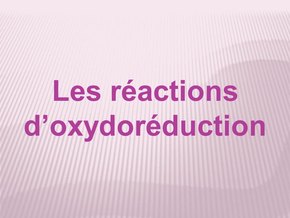 Les réactions d'oxydoréduction