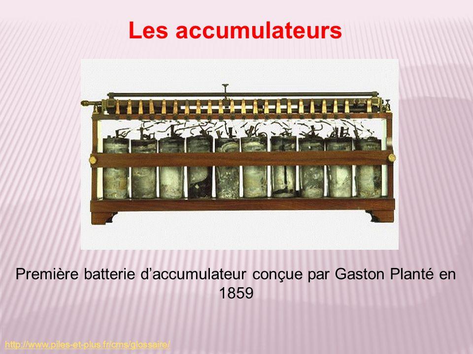 Première batterie d'accumulateur conçue par Gaston Planté en