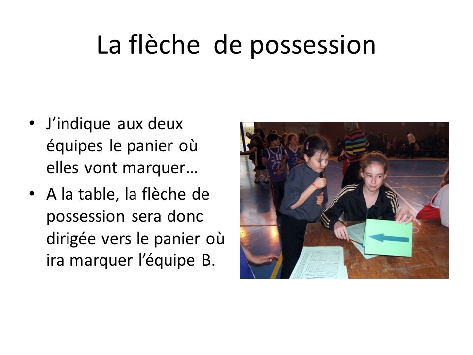 La flèche de possession