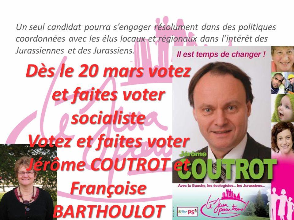 Dès le 20 mars votez et faites voter socialiste