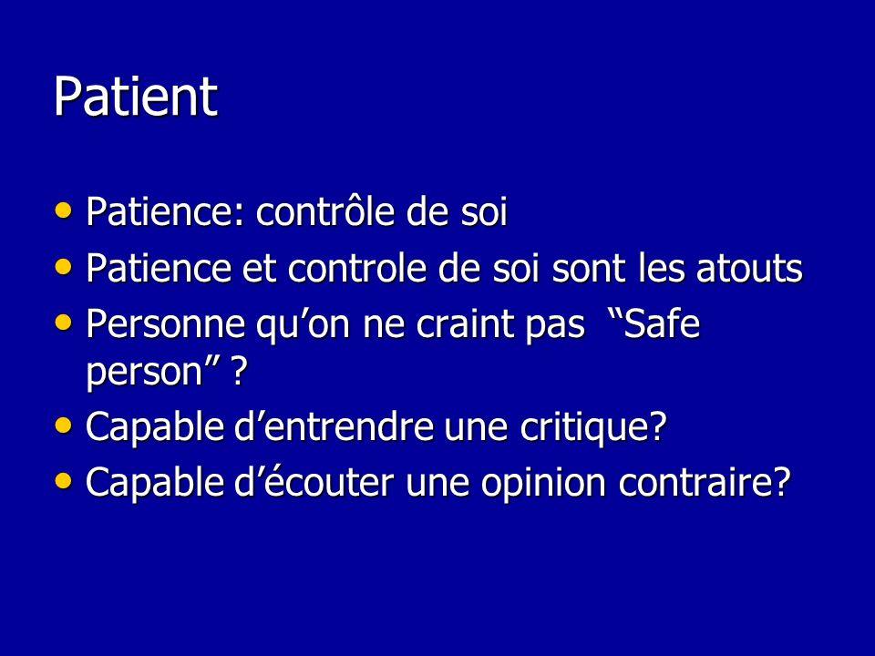 Patient Patience: contrôle de soi