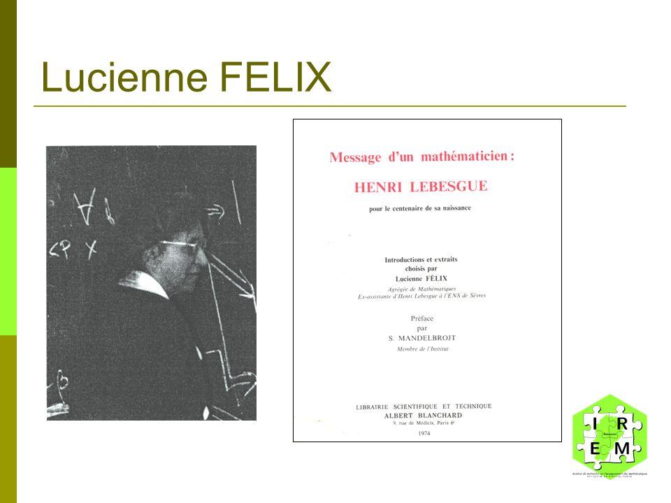 Lucienne FELIX