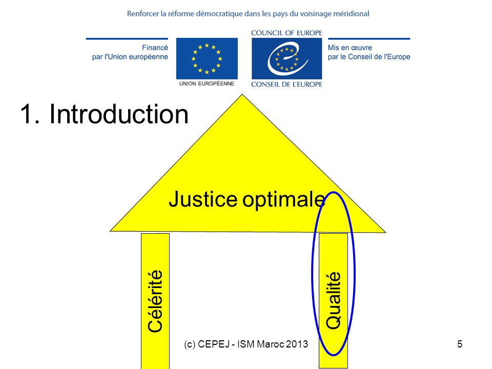 1. Introduction Justice optimale Célérité Qualité