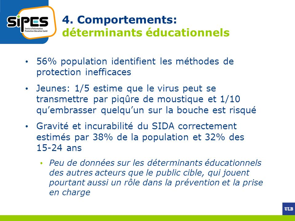 4. Comportements: déterminants éducationnels