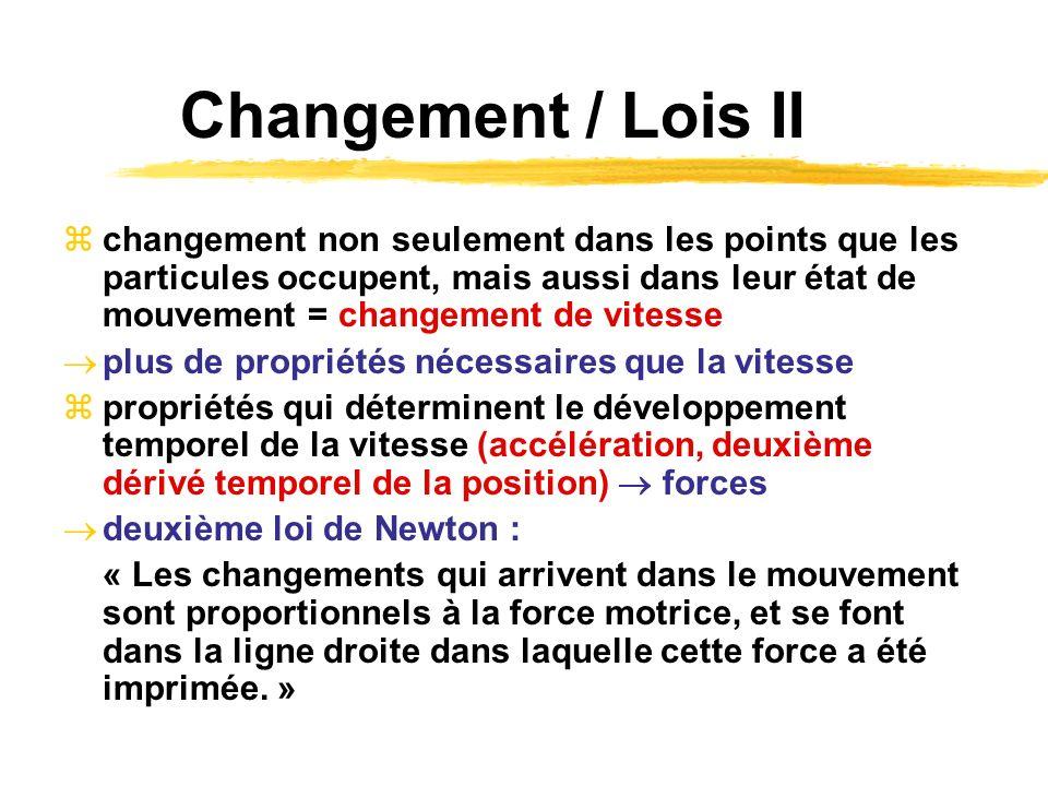 Changement / Lois II