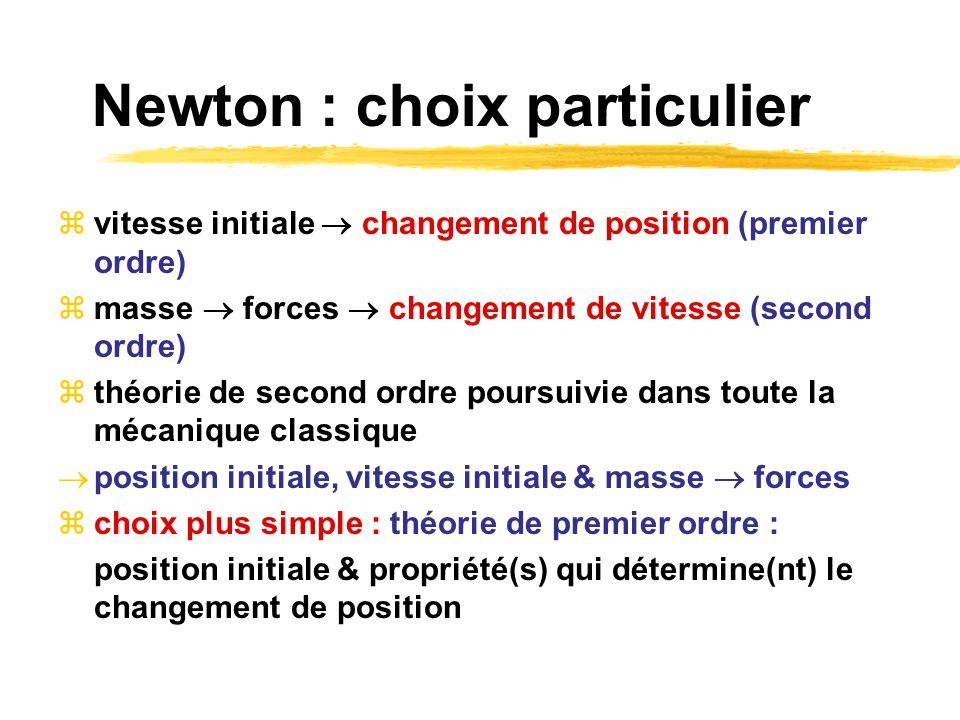 Newton : choix particulier