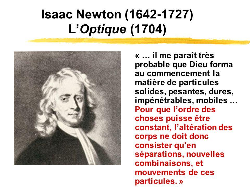 Isaac Newton (1642-1727) L'Optique (1704)