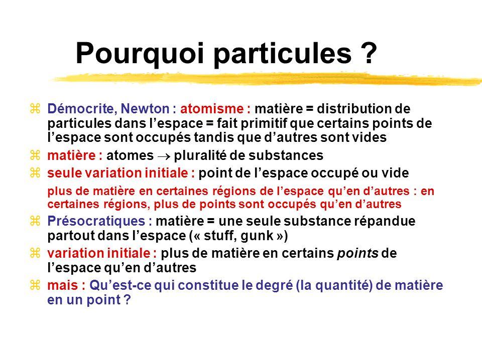 Pourquoi particules