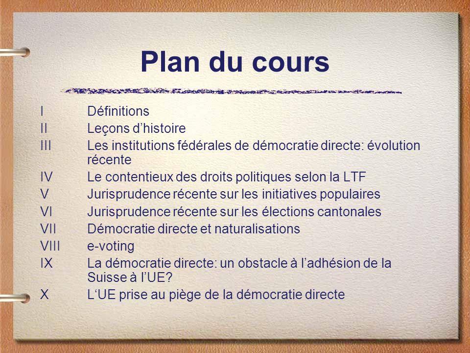 Plan du cours I Définitions II Leçons d'histoire