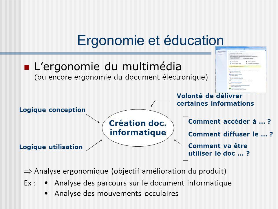 Ergonomie et éducation