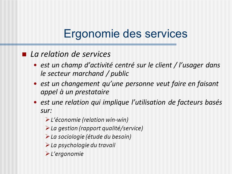 Ergonomie des services