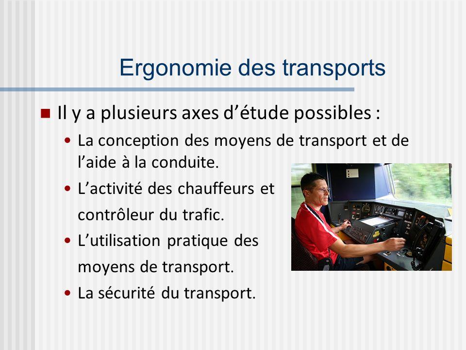 Ergonomie des transports