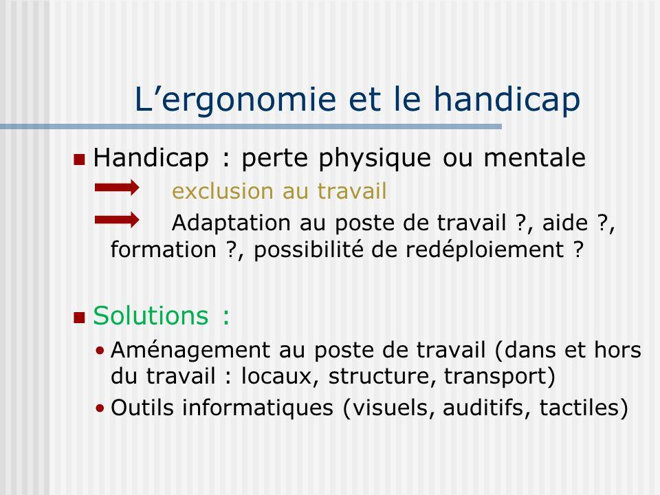 L'ergonomie et le handicap