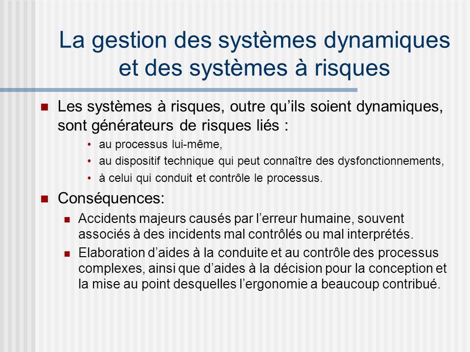 La gestion des systèmes dynamiques et des systèmes à risques