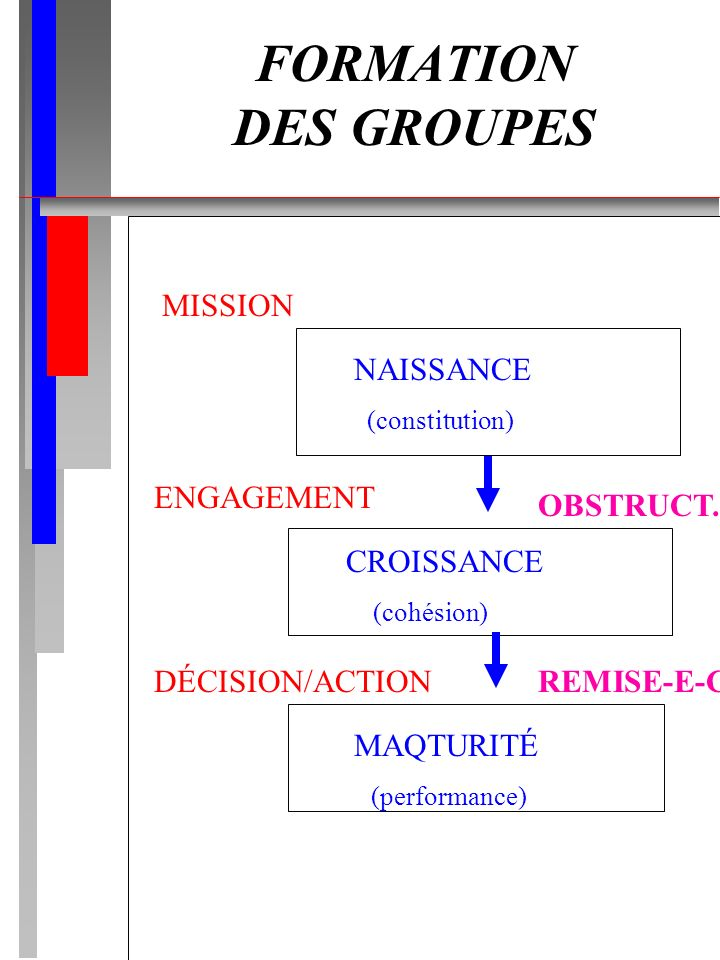 FORMATION DES GROUPES MISSION NAISSANCE ENGAGEMENT OBSTRUCT.
