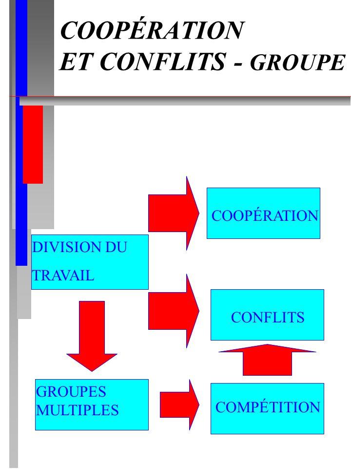 COOPÉRATION ET CONFLITS - GROUPE
