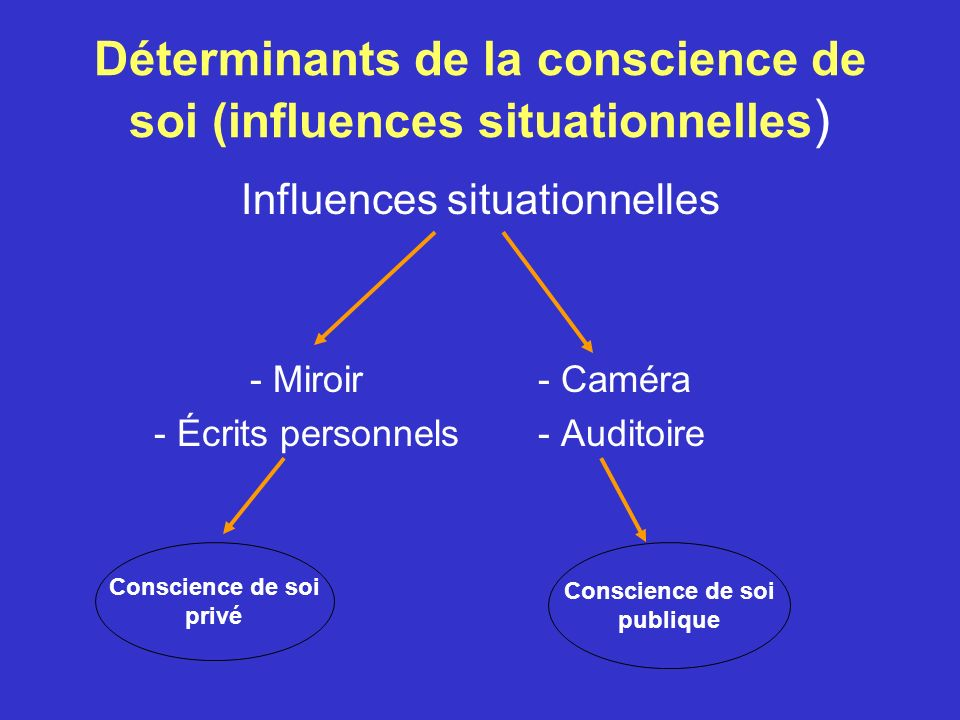 Déterminants de la conscience de soi (influences situationnelles)