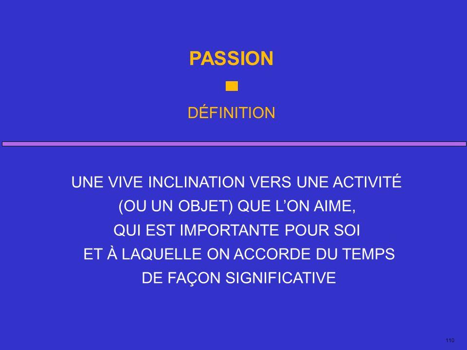 PASSION DÉFINITION UNE VIVE INCLINATION VERS UNE ACTIVITÉ
