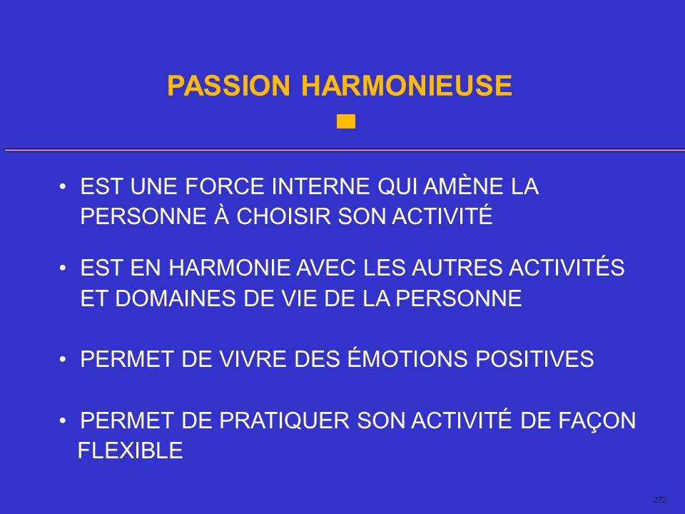 PASSION HARMONIEUSE • EST UNE FORCE INTERNE QUI AMÈNE LA