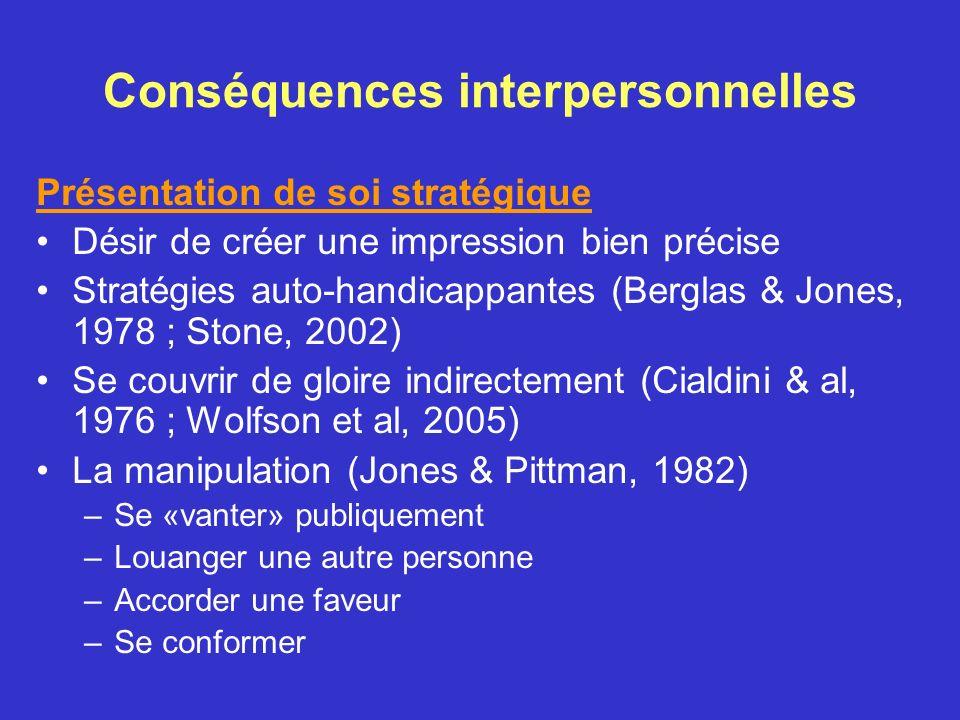 Conséquences interpersonnelles