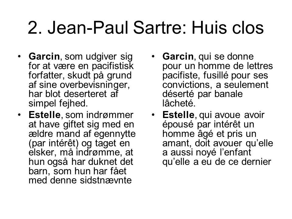 2. Jean-Paul Sartre: Huis clos