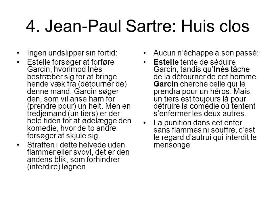 4. Jean-Paul Sartre: Huis clos
