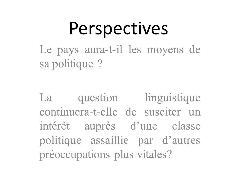 Perspectives Le pays aura-t-il les moyens de sa politique