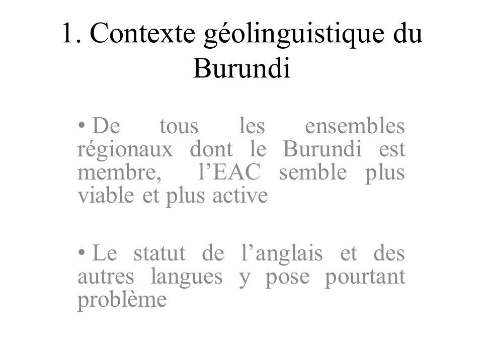 1. Contexte géolinguistique du Burundi