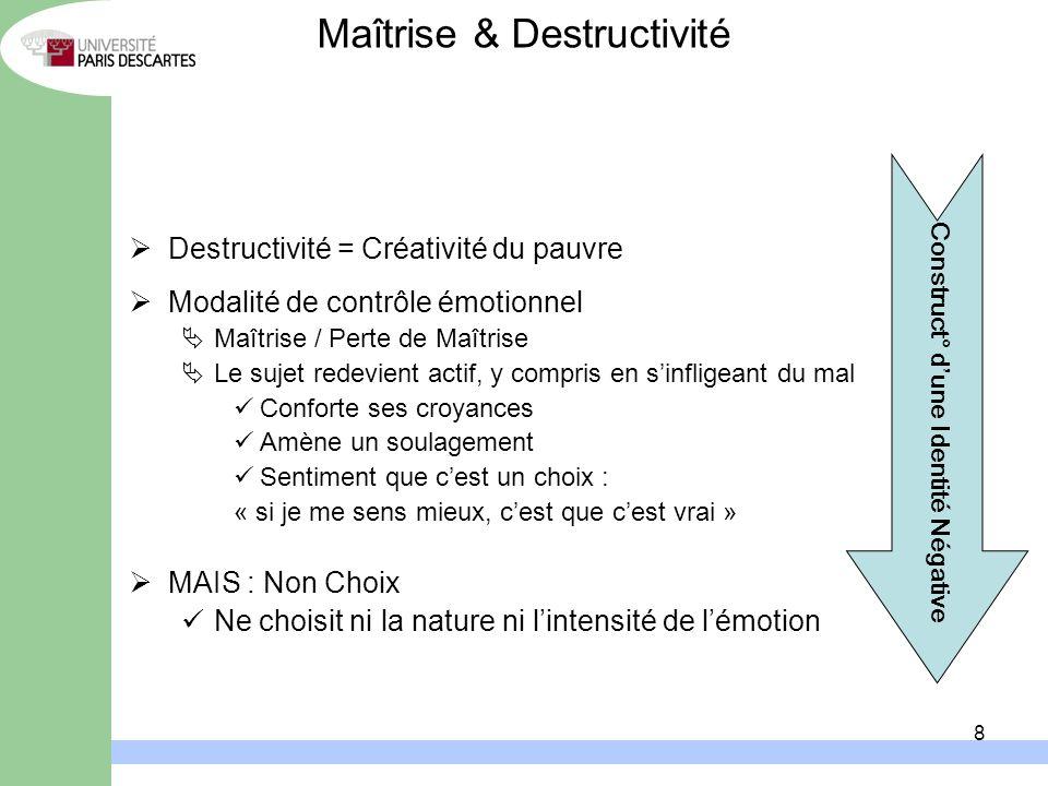 Maîtrise & Destructivité