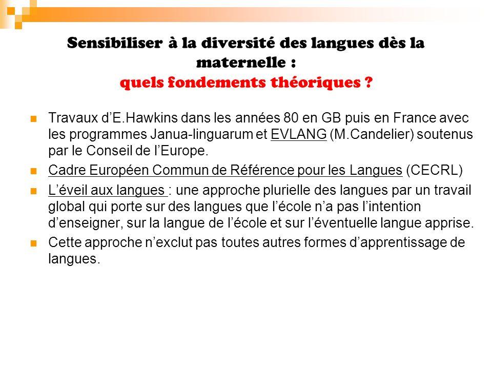 Sensibiliser à la diversité des langues dès la maternelle : quels fondements théoriques