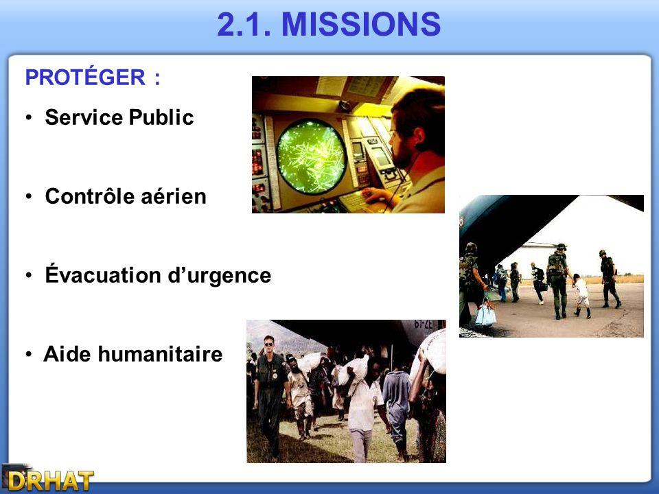 2.1. MISSIONS PROTÉGER : Service Public Contrôle aérien