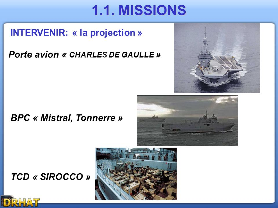 1.1. MISSIONS INTERVENIR: « la projection »