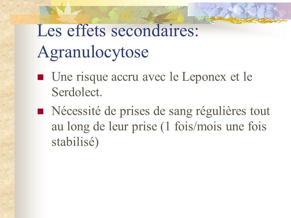 Les effets secondaires: Agranulocytose