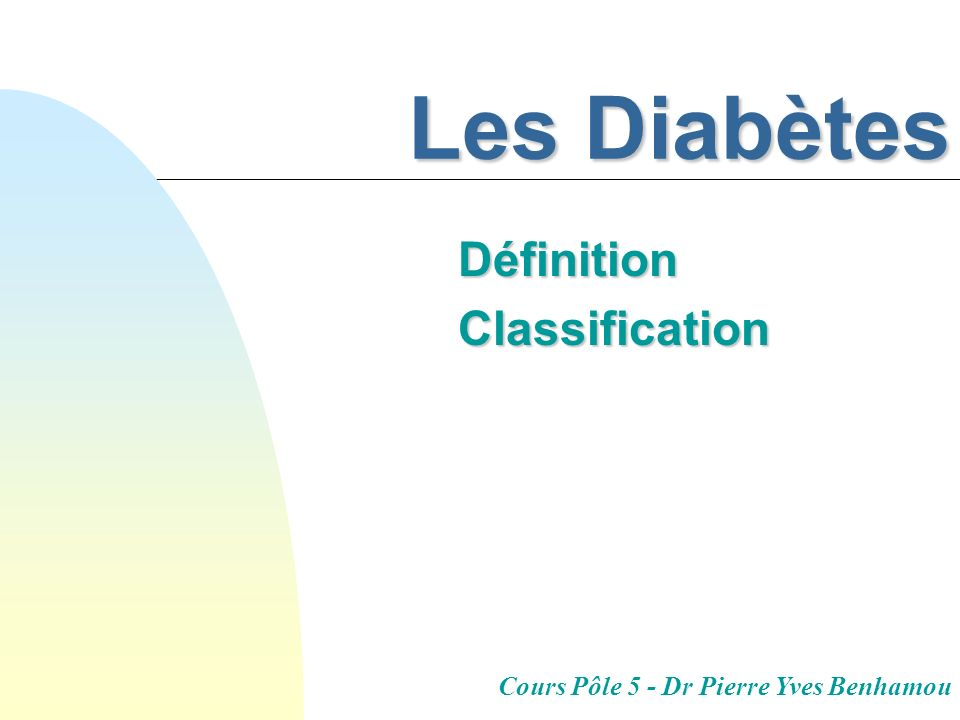 Définition Classification