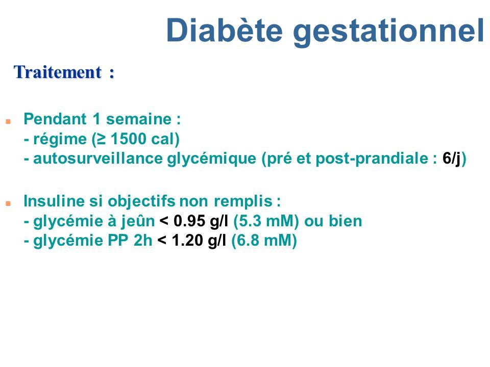 Diabète gestationnel Traitement :