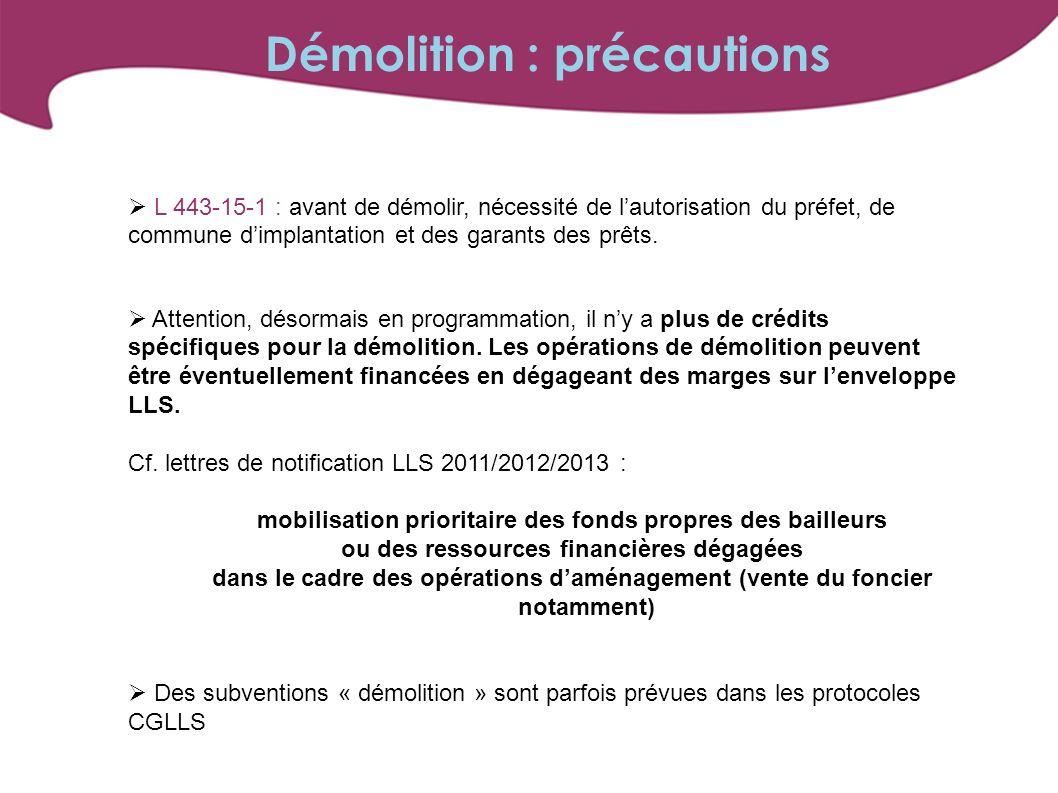 Démolition : précautions