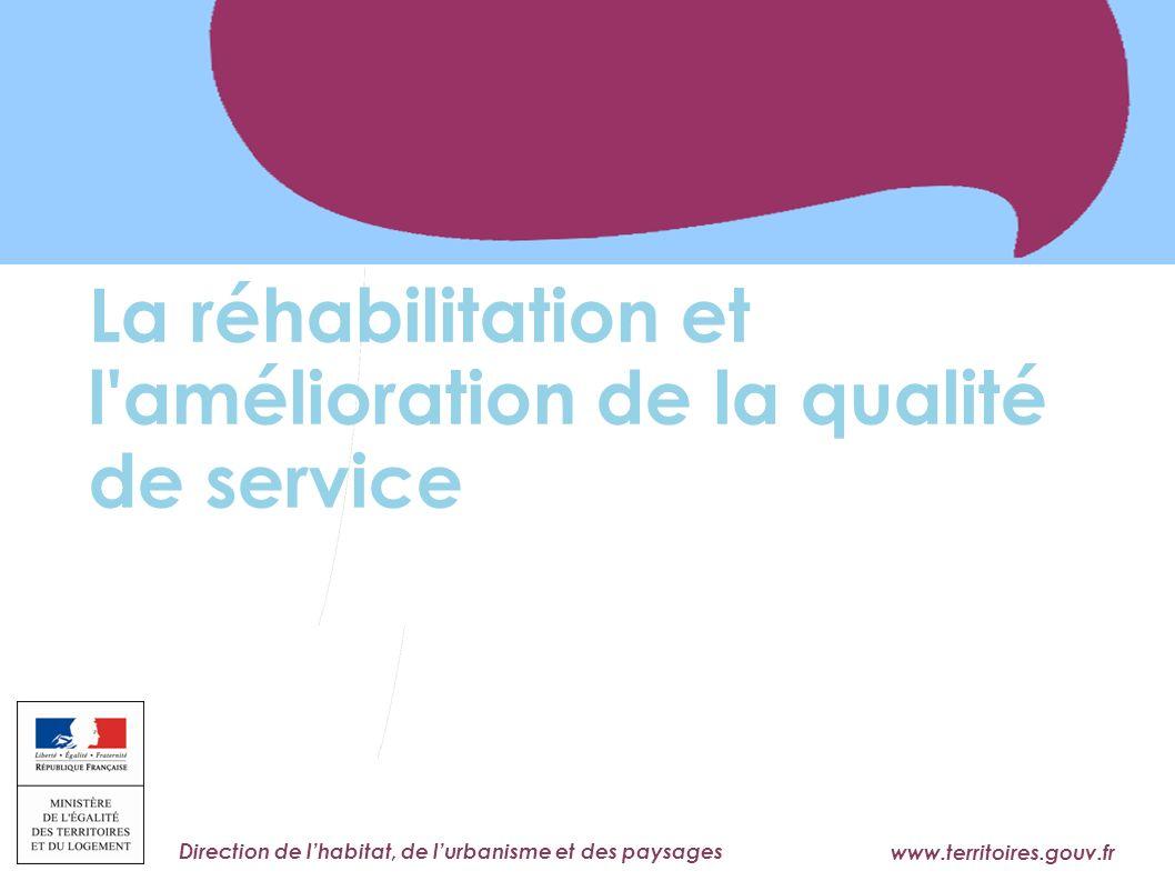 La réhabilitation et l amélioration de la qualité de service
