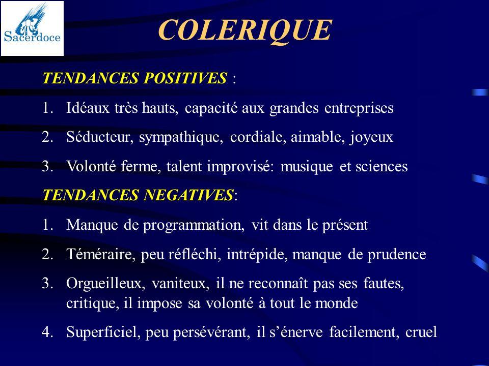 COLERIQUE TENDANCES POSITIVES :
