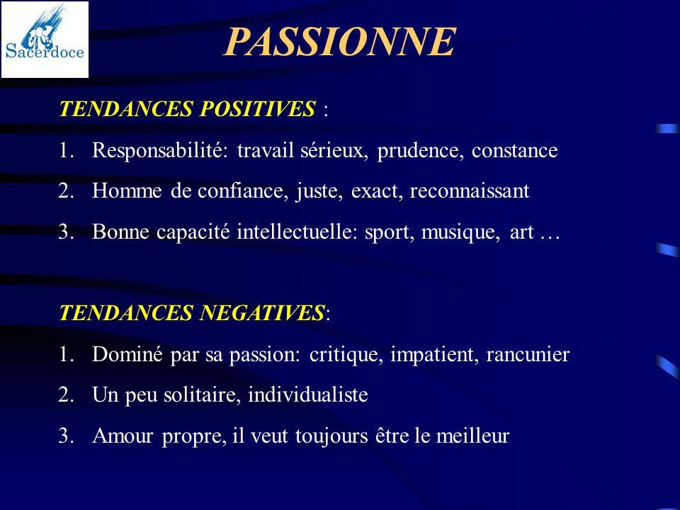 PASSIONNE TENDANCES POSITIVES :