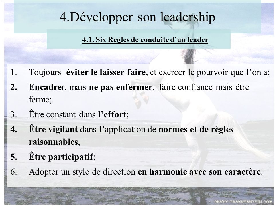 4.Développer son leadership