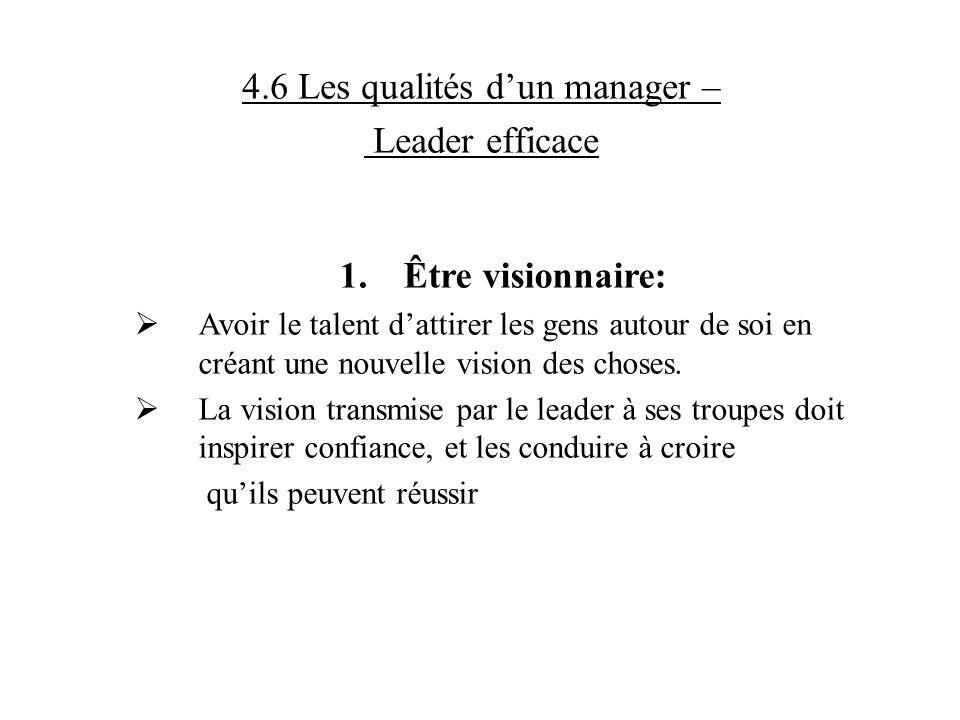 4.6 Les qualités d'un manager –