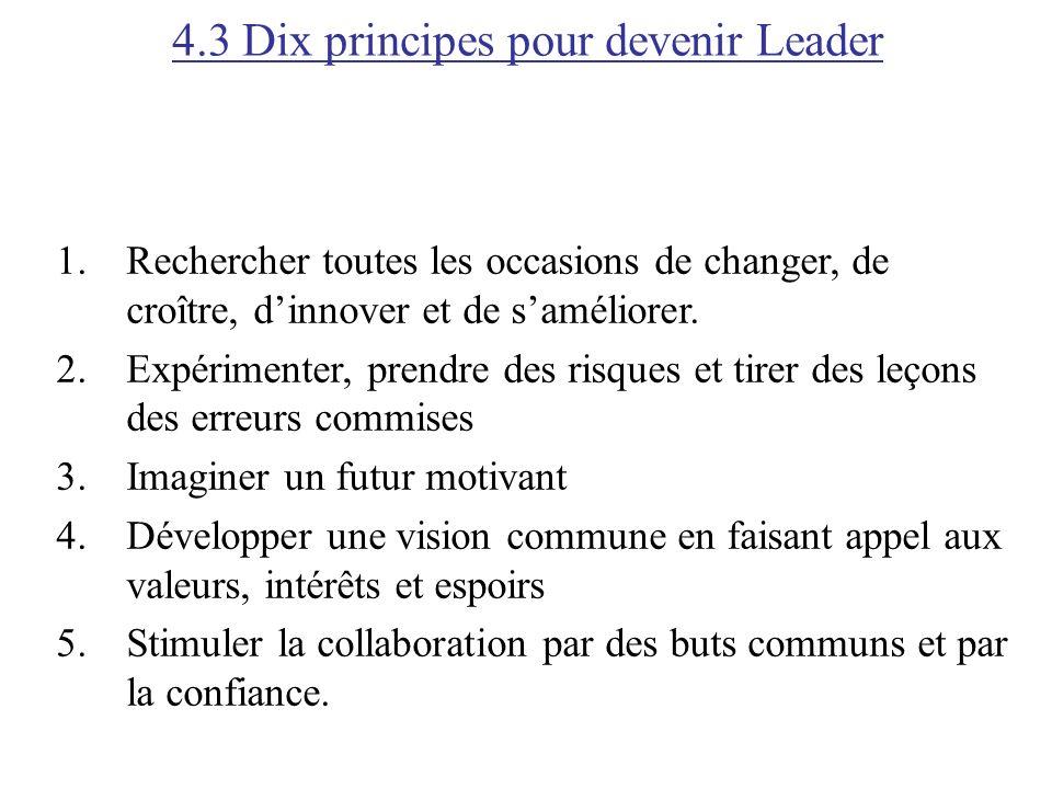 4.3 Dix principes pour devenir Leader